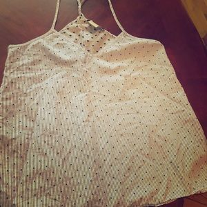 MADEWELL Cute Polk a dot spaghetti top